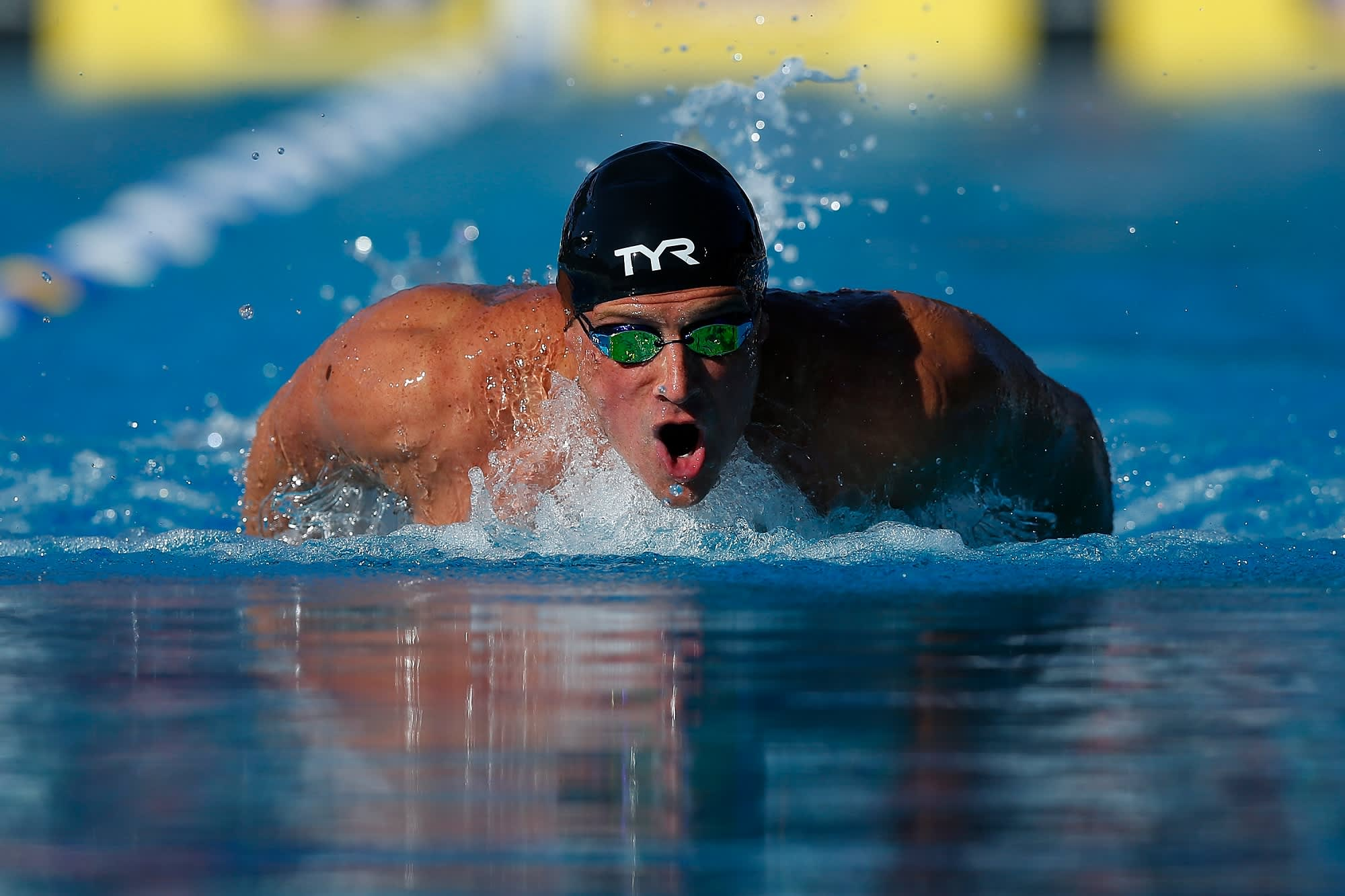 Olympic gold medalist Ryan Lochte's daily routine includes 5 hours of workouts and 4,000 calories