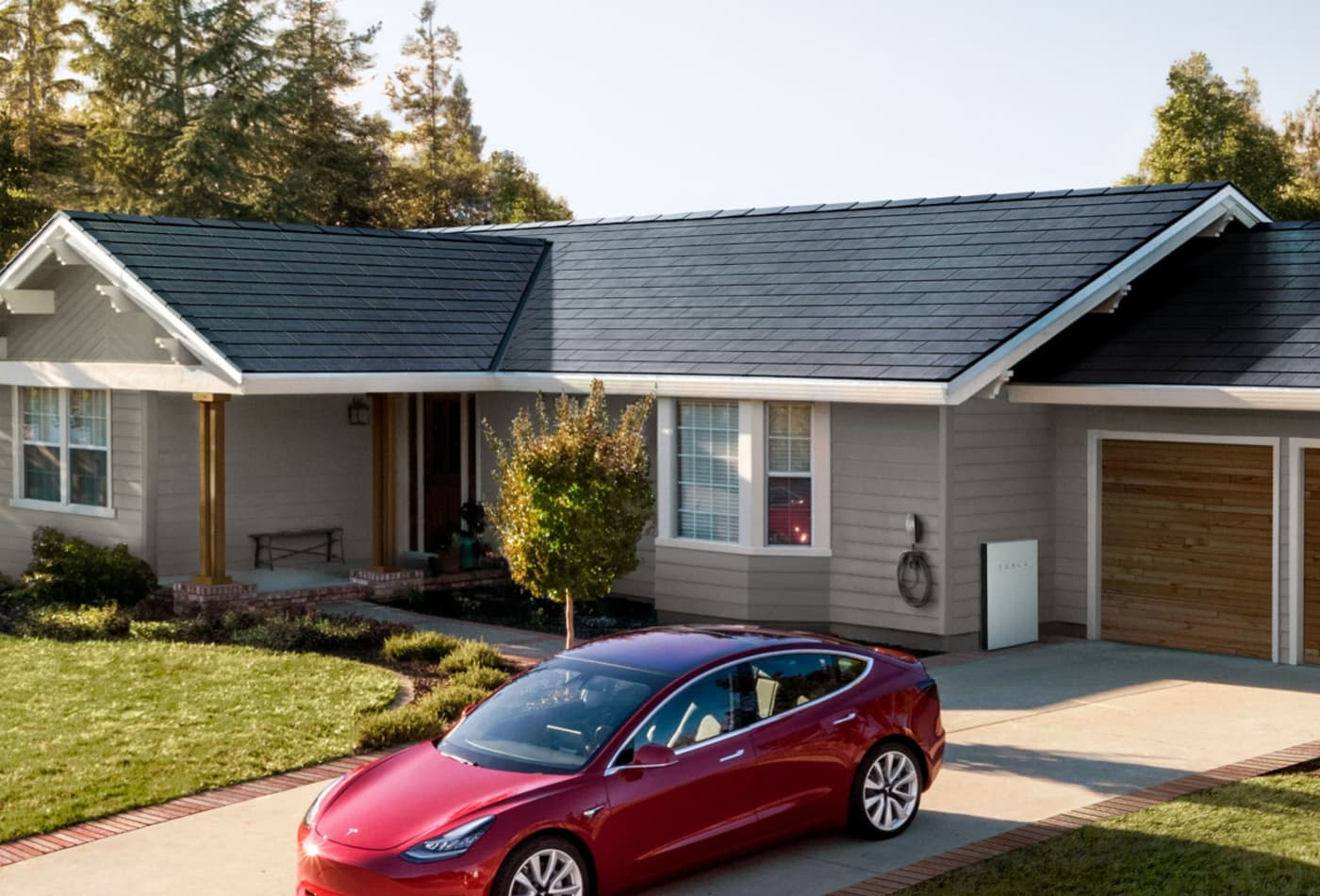 Tesla puts up tents to hide its 'solar test house' in California
