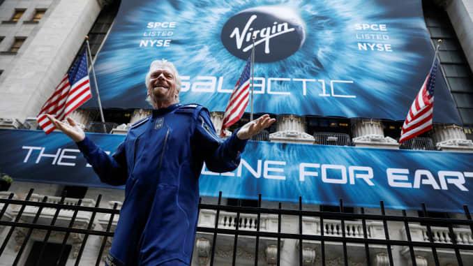 RT: Richard Branson Virgin Galactic IPO NYSE 191028 1