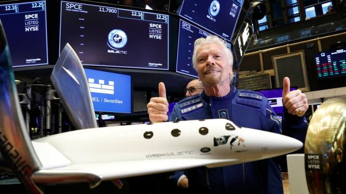 RT: Richard Branson Virgin Galactic IPO NYSE 191028 3
