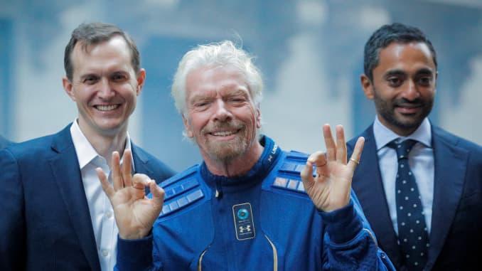 Virgin Galactic IPO NYSE: Richard Branson George Whitesides and Chamath Palihapitiya