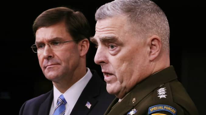 GP: DOD Secretary Esper And Chairman Of Joint Chiefs Milley Discuss Al-Baghdadi Raid