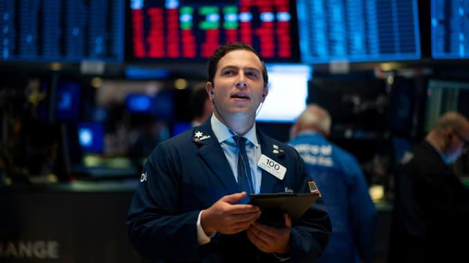 GP: Trader on floor of New York Stock Exchange