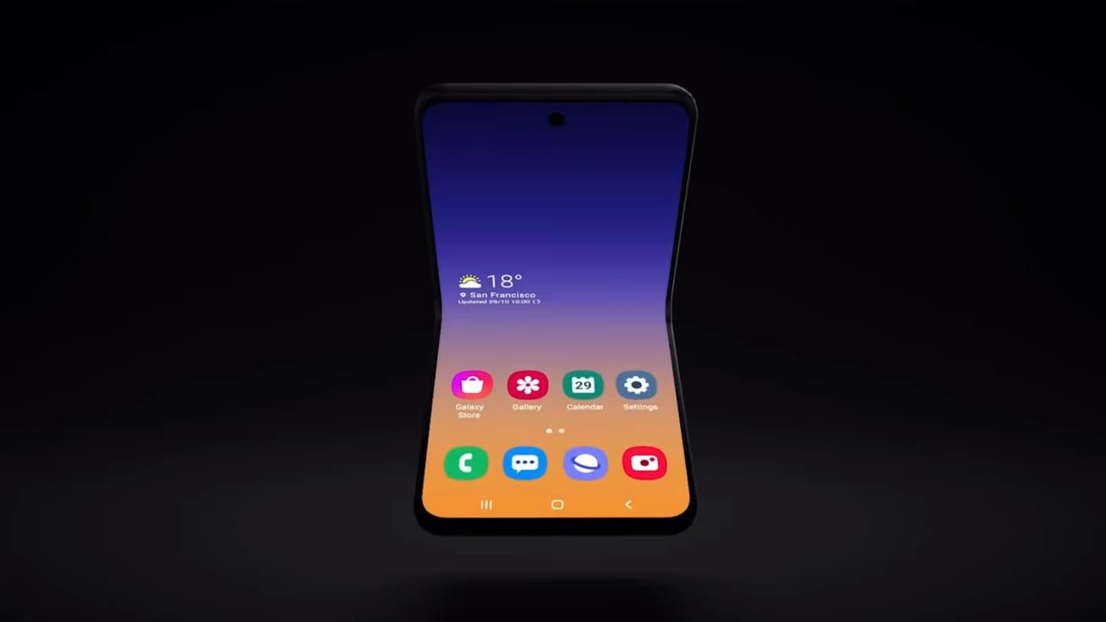 Samsung Teases New Foldable Flip Phone Concept