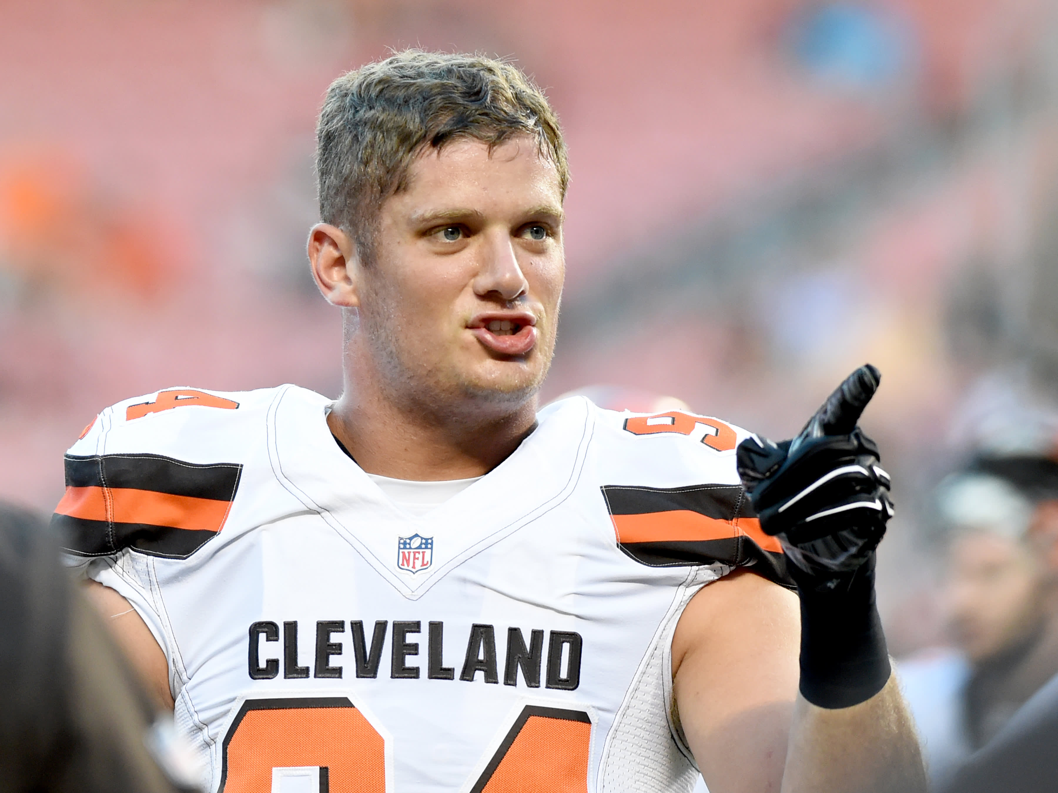 NFL player Carl Nassib makes millions but sticks to a $3,500 budget for rent, food and bills