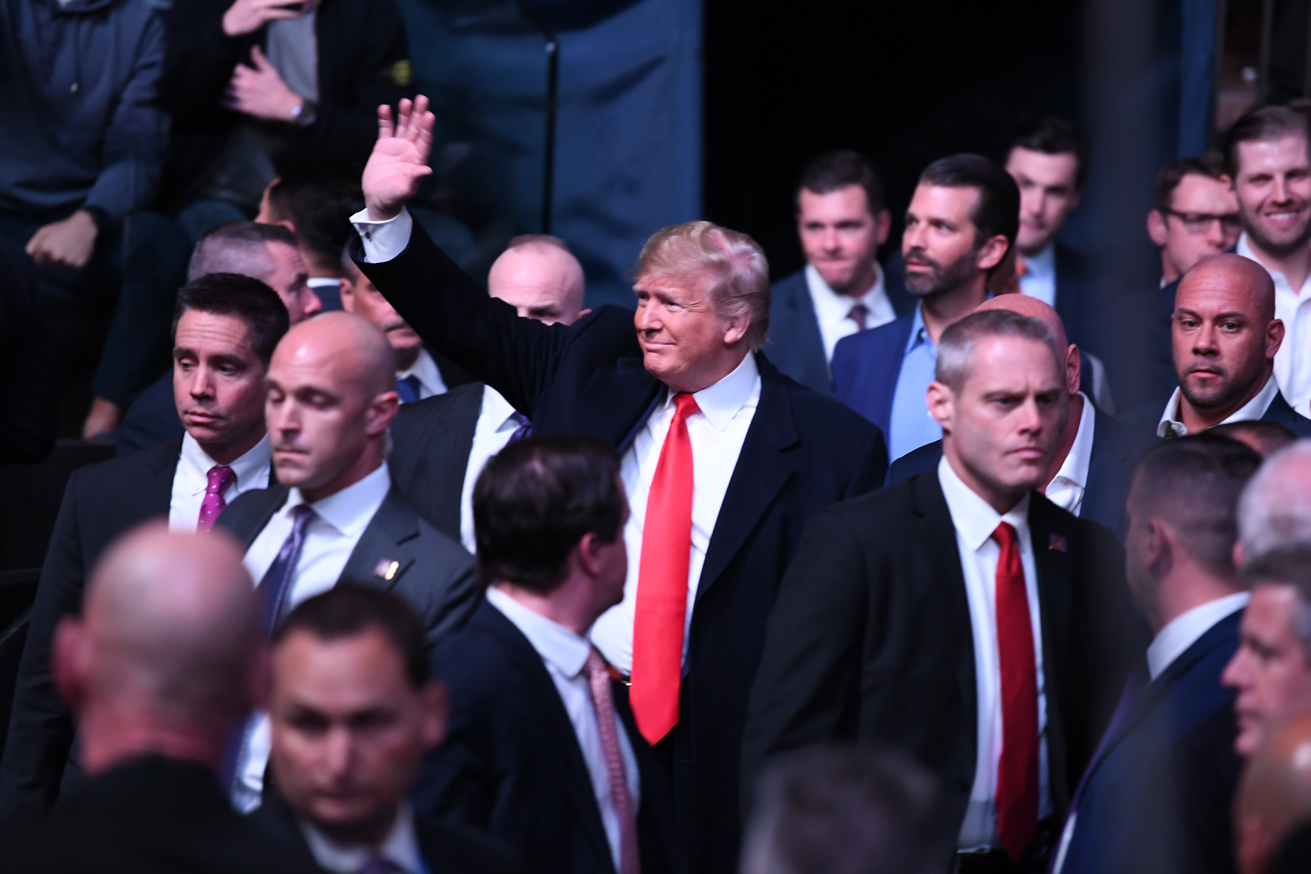 Trump cheered and booed at mixed martial arts fight in Madison Square Garden