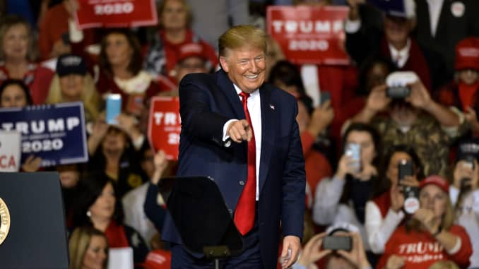 GP: President Trump Holds Rally In Tupelo, Mississippi