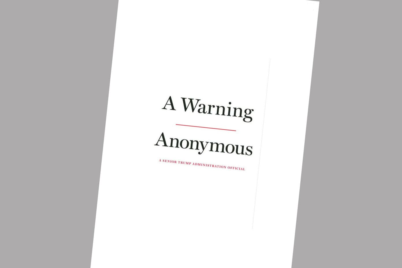 The Justice Department is asking for details about 'Anonymous,' the author of forthcoming book on Trump administration