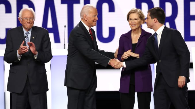GP: Bernie Sanders, Joe Biden Elizabeth Warren Pete Buttigieg Democratic Presidential Candidates Participate In Fourth Debate In Ohio