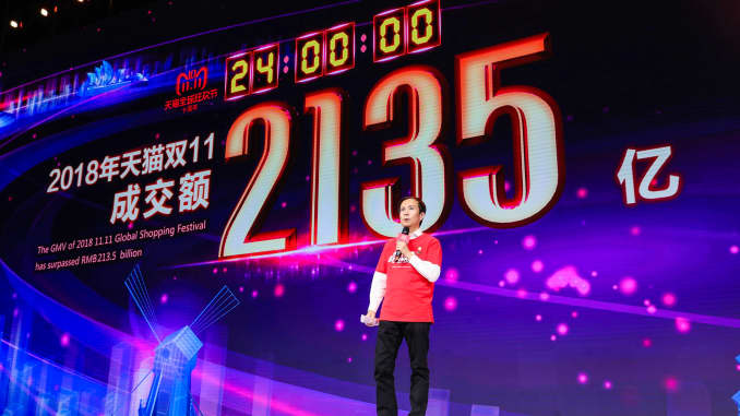 GP: On stage at 2019 Singles' Day in China