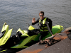 David Pike's jet ski has drastically shortened his commute and saved him a decent chunk of change.