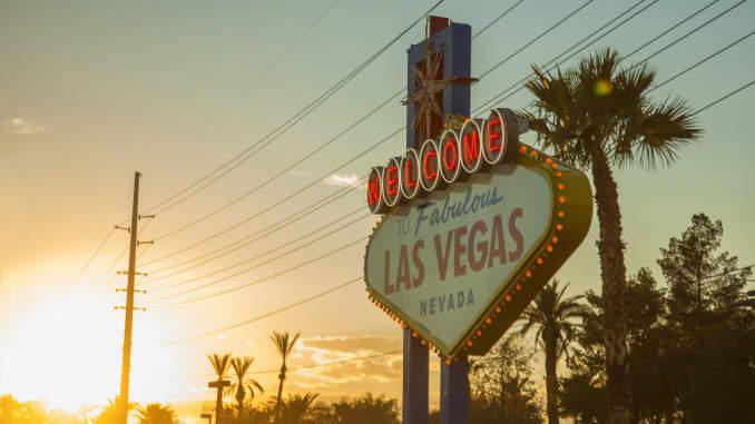 The 'Welcome to Las Vegas' sign, Las Vegas, Nevada, USA
