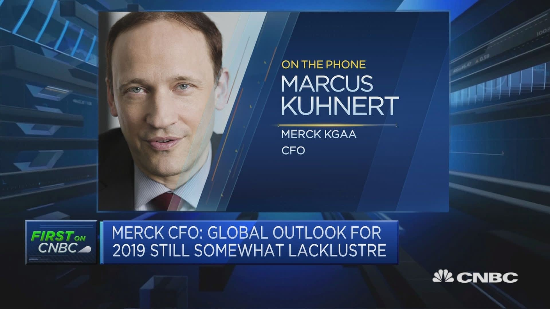 Outlook for 2019 still 'somewhat lackluster' but will be back to growth in 2020, Merck KGaA CFO says