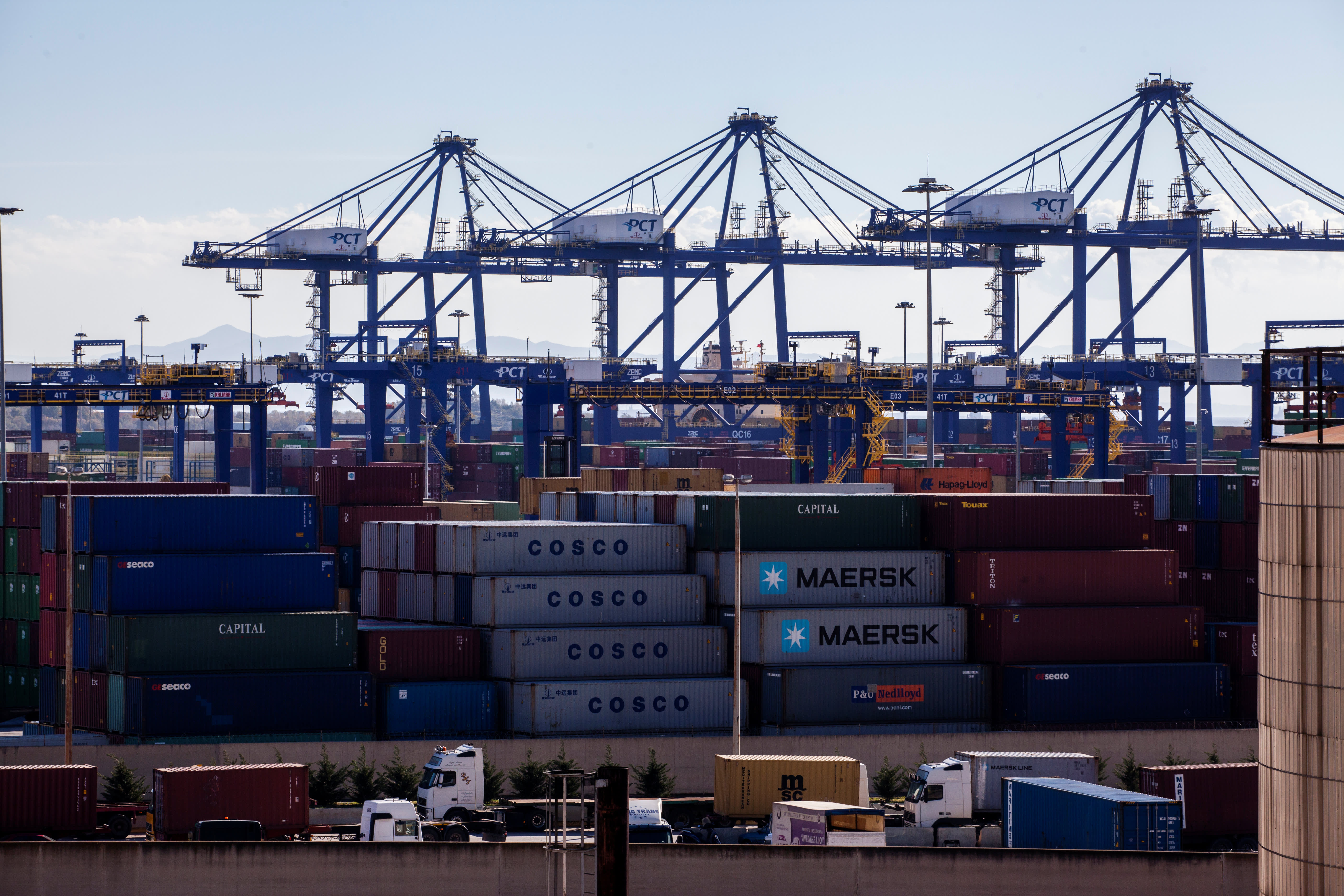China bought most of Greece`s main port and...