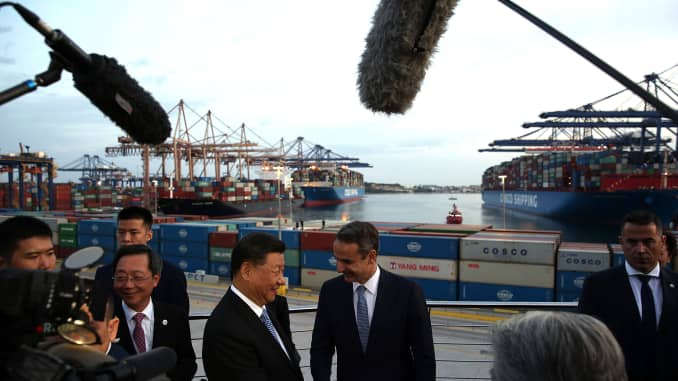 GS - President Xi in Athens