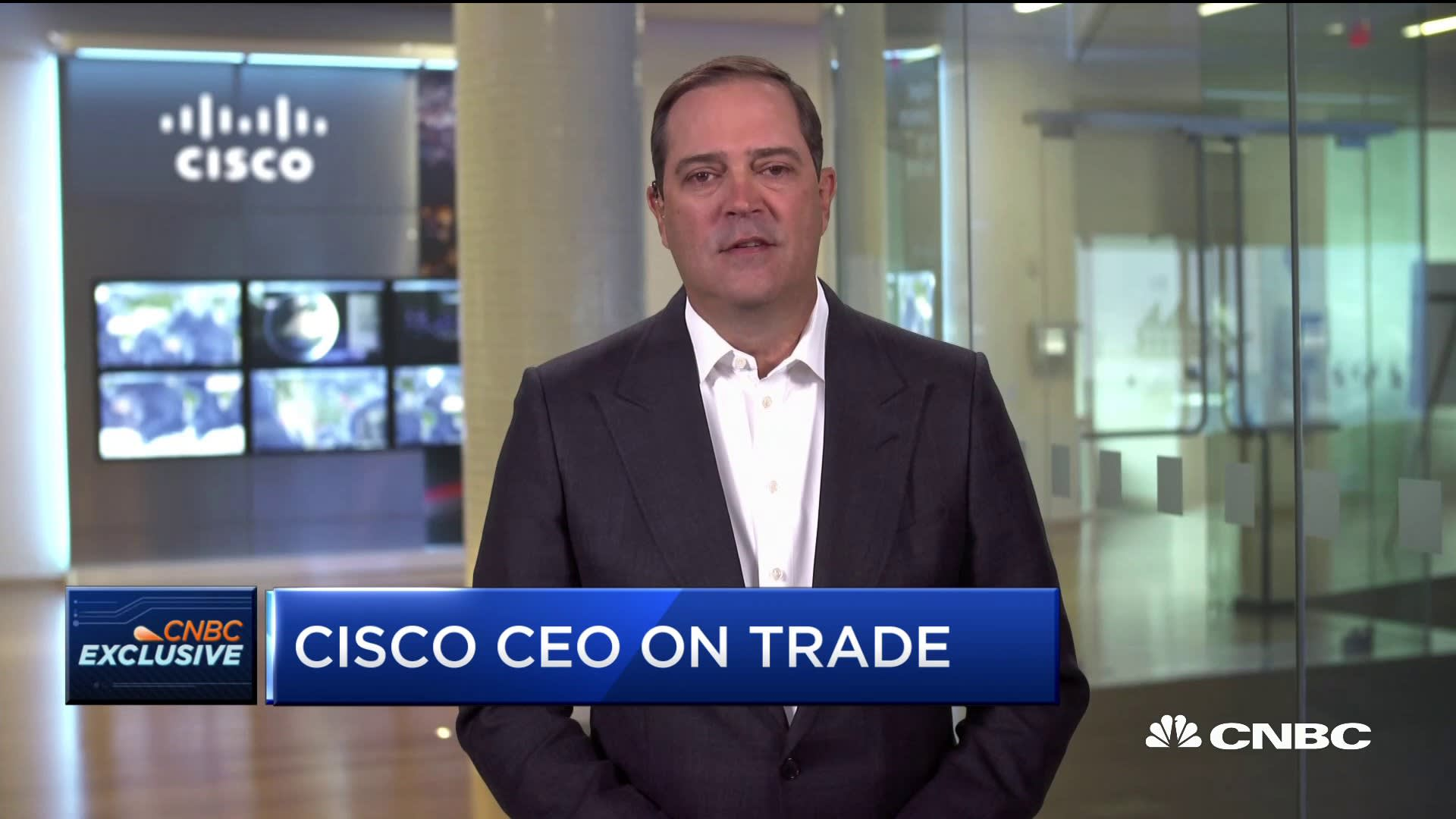 Cisco CEO Chuck Robbins: Big companies are concerned about the macro-environment