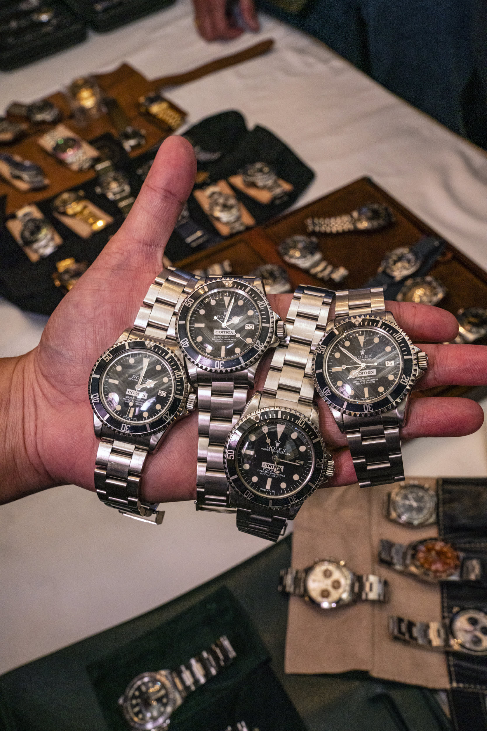 Inside a secret Rolex meetup, the finds include a 'sexpile' worth millions and a radioactive watch