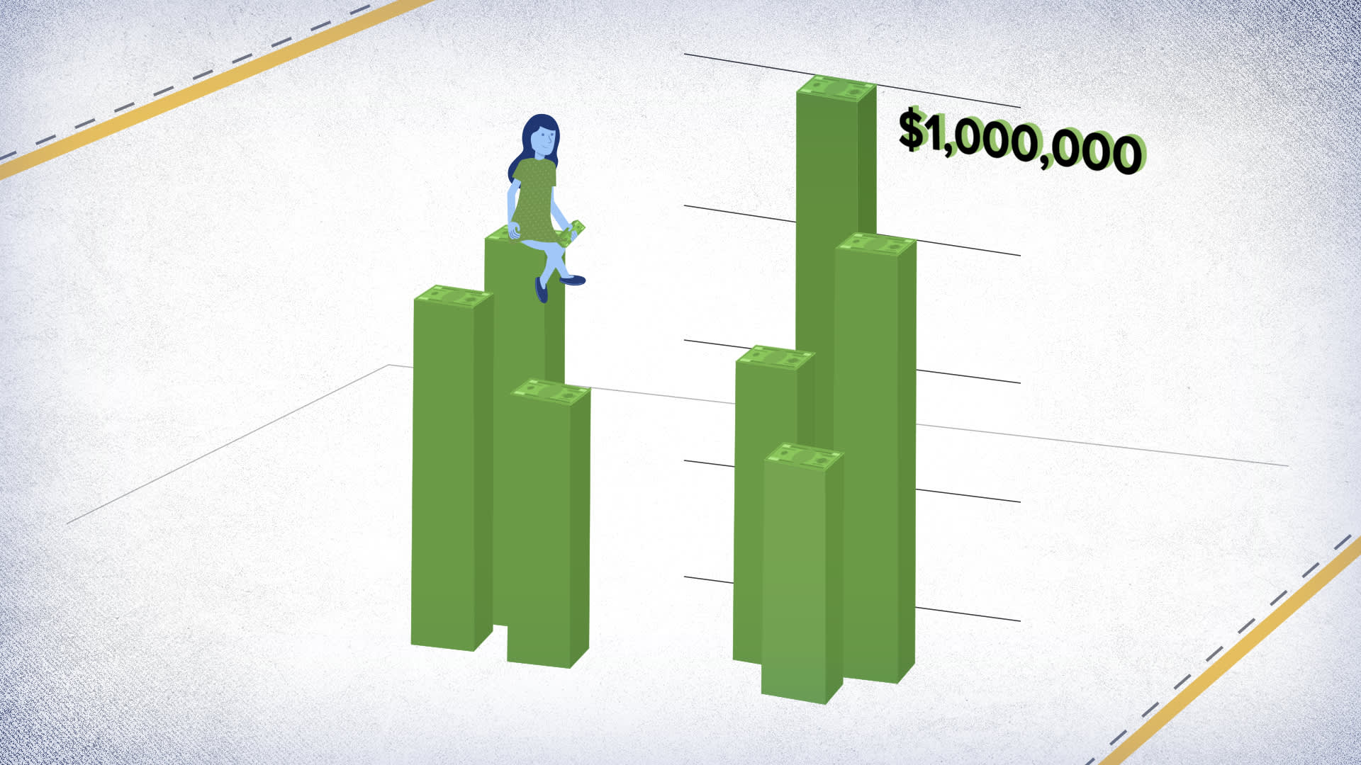How to save a million dollars on a $45,000 salary, broken down by age