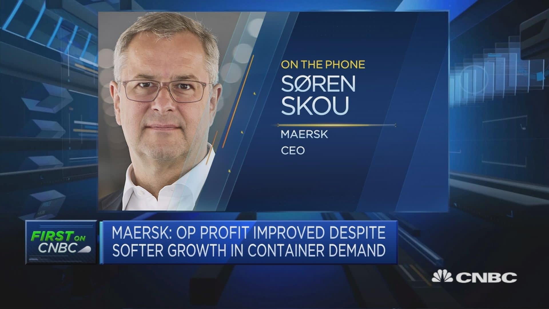 Trade war not having a negative impact on our earnings, Maersk CEO says