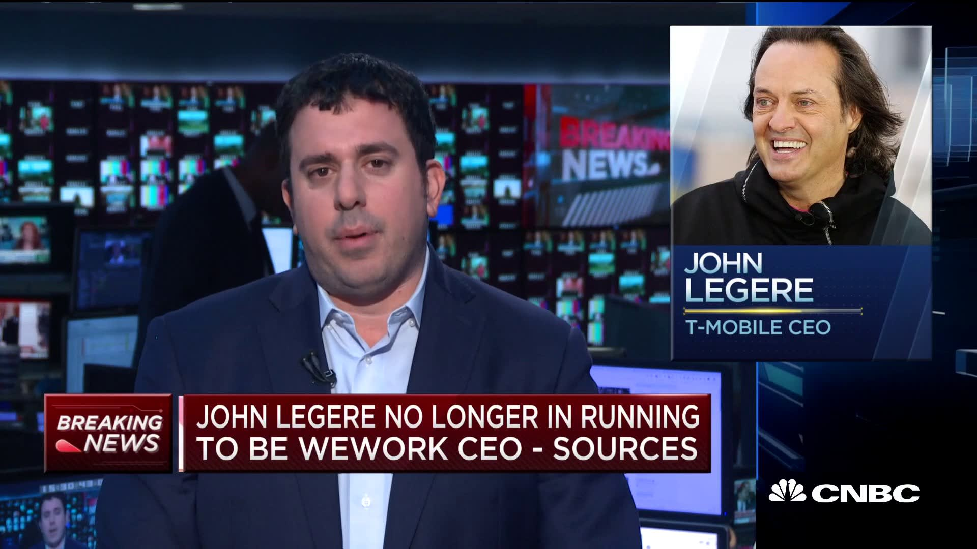 John Legere no longer in running to be WeWork CEO, sources tell CNBC