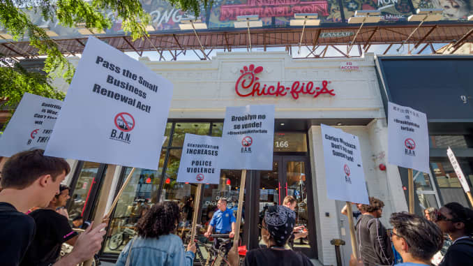 GP: Protesters targeted Chick-Fil-A for their alleged homophobe stance