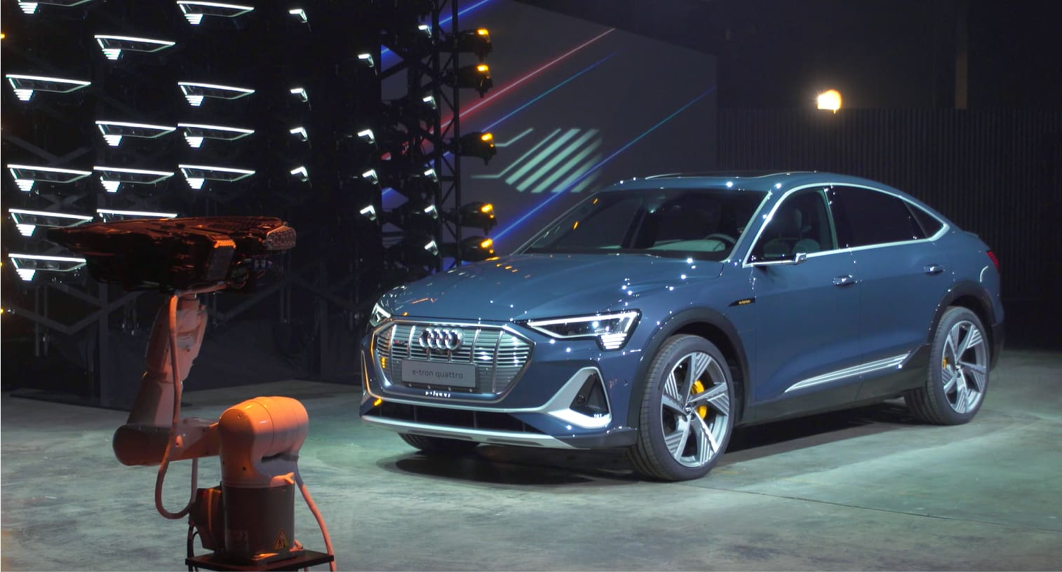 Audi unveils first all-electric Sportback with tech-savvy features illegal in US