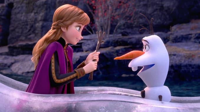 Elsa og søte lille Olaf.