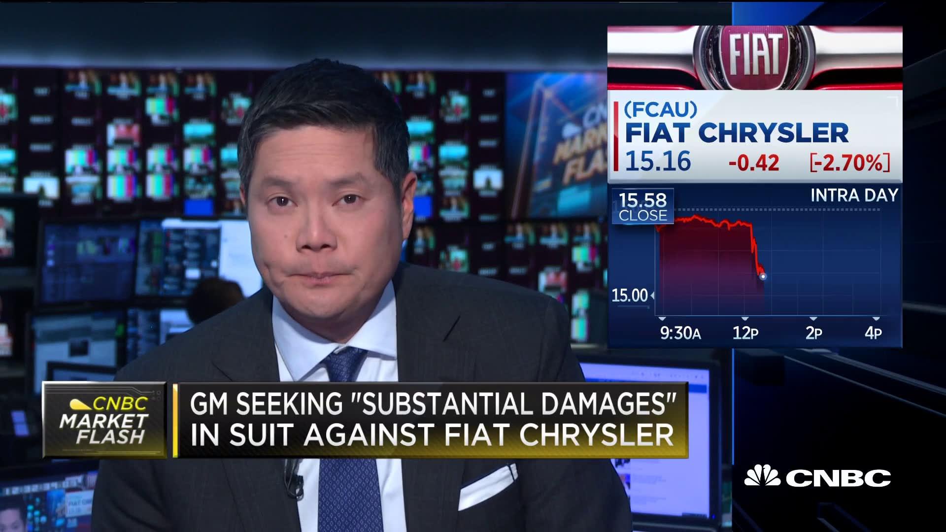 GM files lawsuit against Fiat Chrysler, alleging corrupt bargaining with UAW