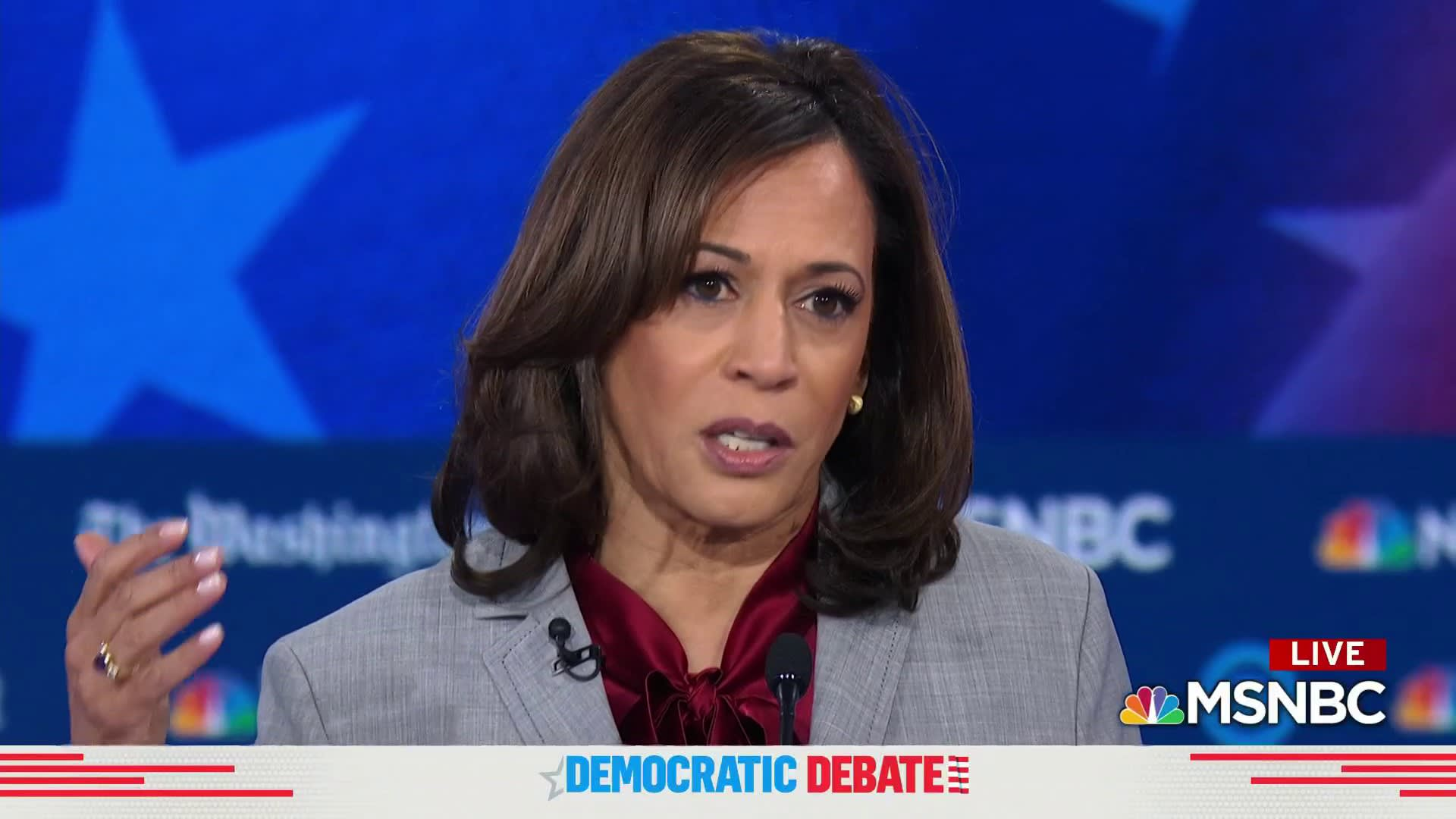 Kamala Harris: We have a criminal living in the White House
