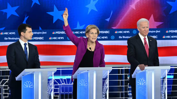 GP: Democratic Debate Atlanta 191120: Pete Buttigieg Elizabeth Warren Joe Biden 1