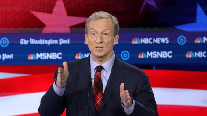 GP: Democratic Presidential Candidates Participate In Debate In Atlanta, Georgia Tom Steyer
