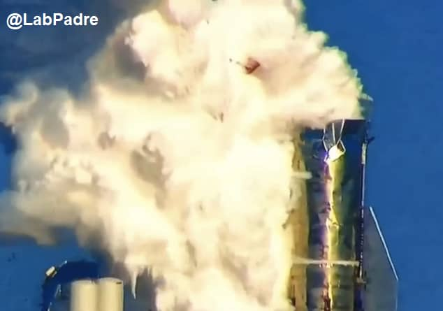 SpaceX blows the top off first Starship rocket in pressure testing 'to the max'