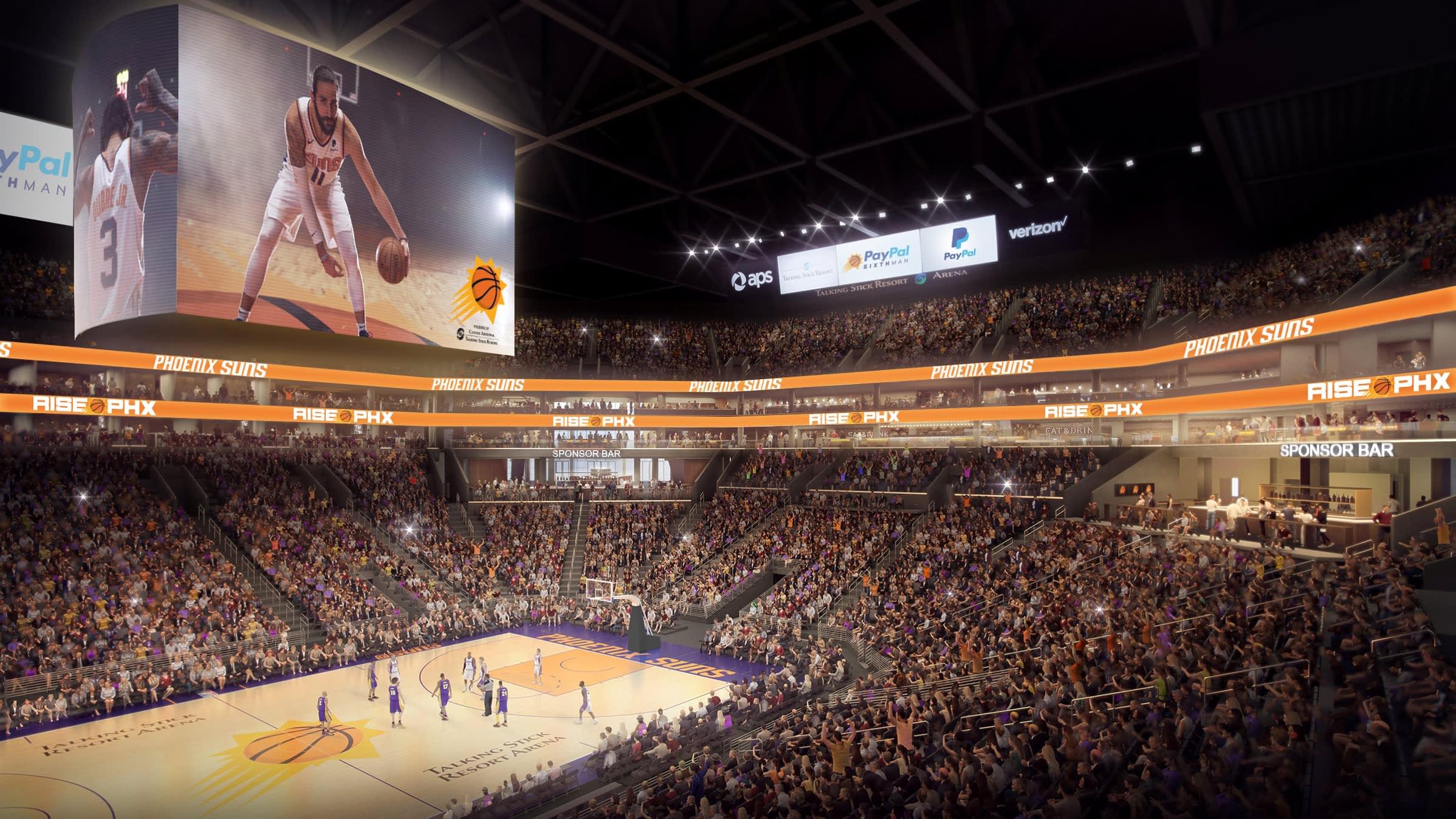 Phoenix Suns unveil renderings of $230 million Talking Stick Resort Arena renovation project