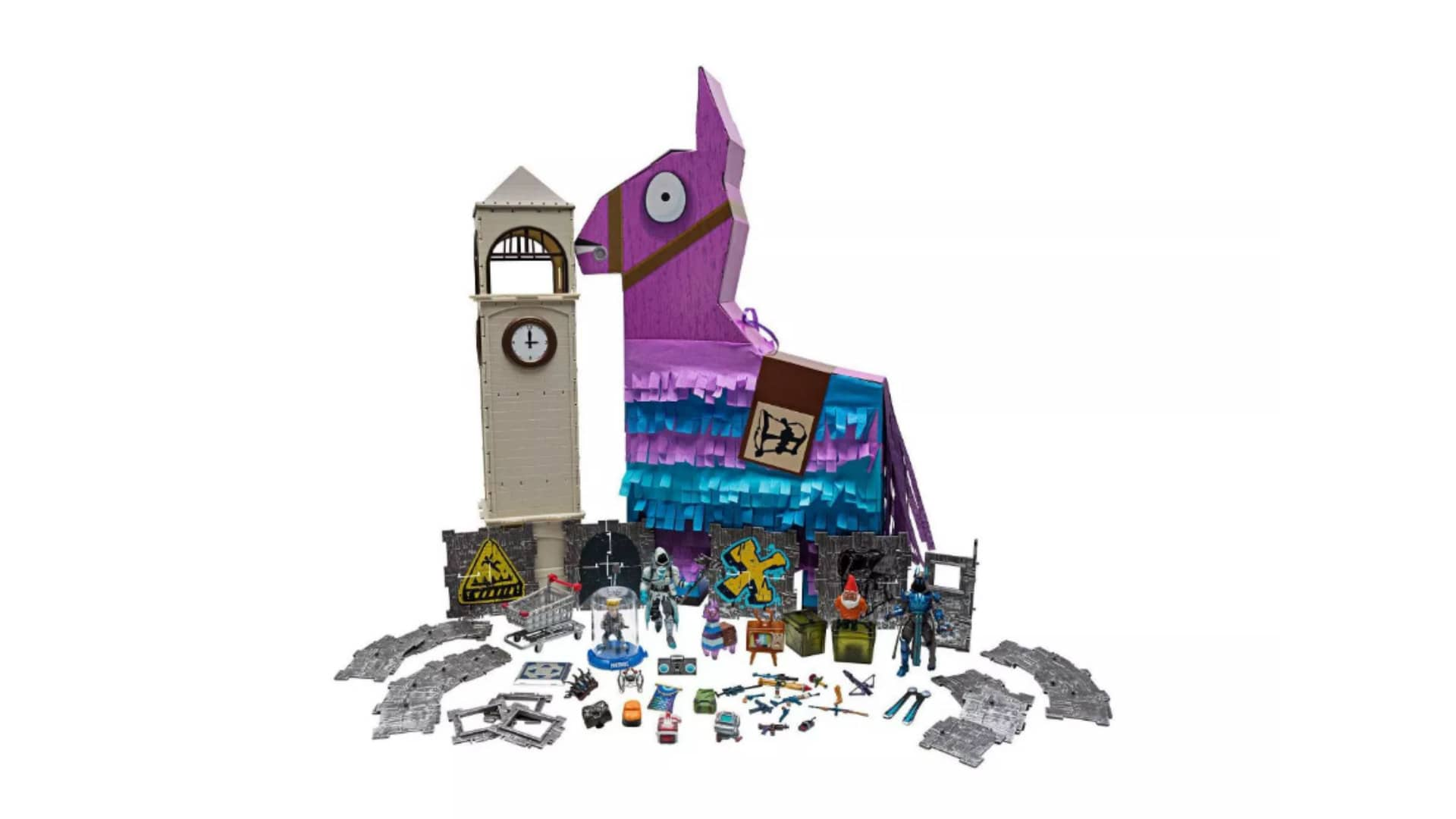 Unbox theJumbo Llama by tearing it open and digging through confetti to reveal your loot.