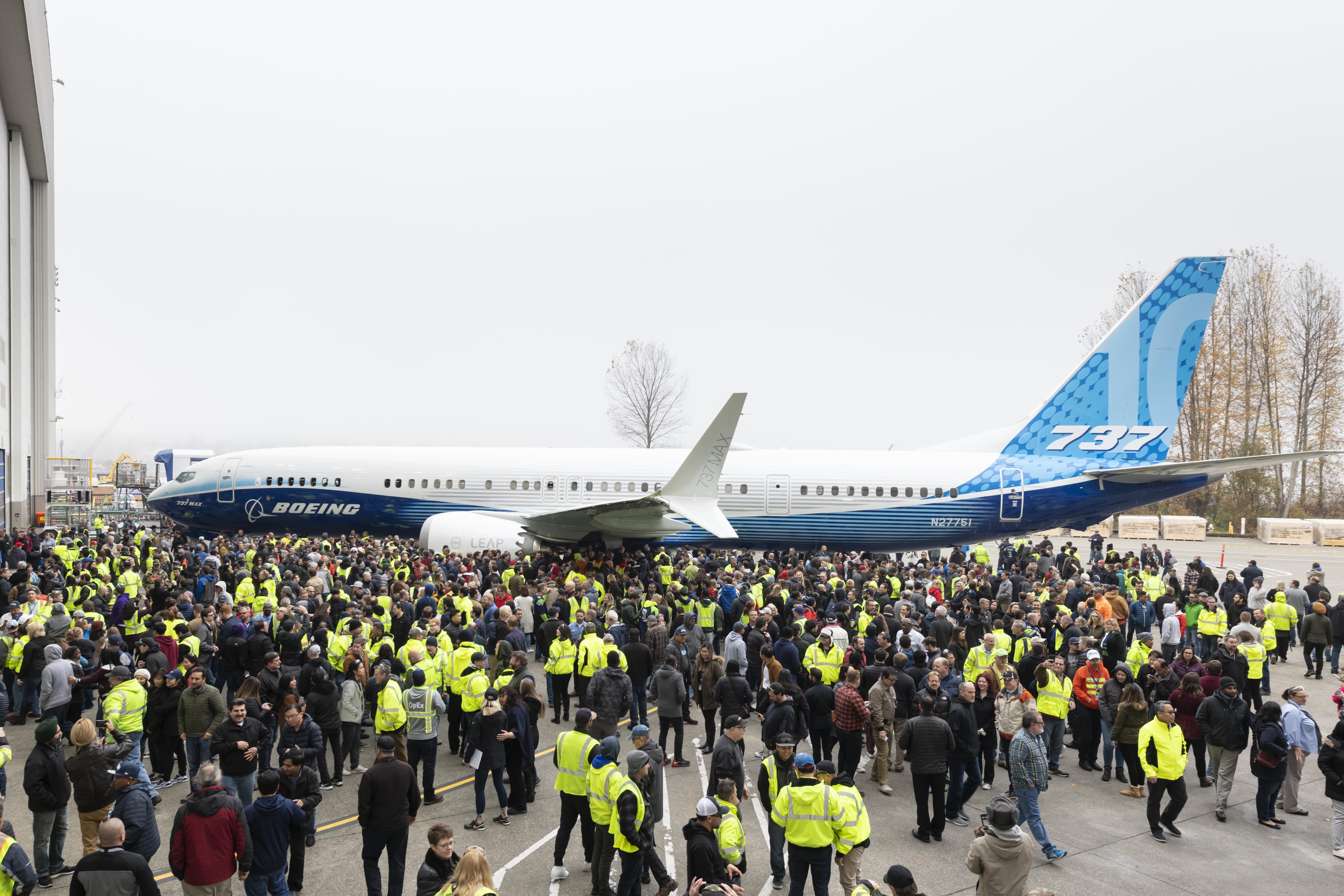 Boeing unveils largest version of its embattled 737 Max plane, despite crisis