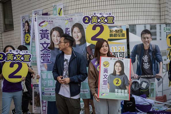Hong Kong vote hits record amid calls for democracy