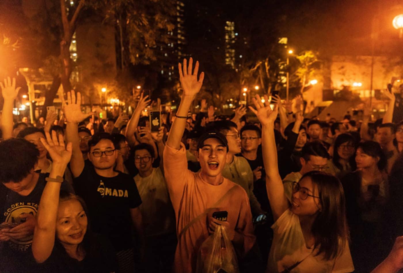 Hong Kong democrats score a landslide local election landslide victory after months of protests