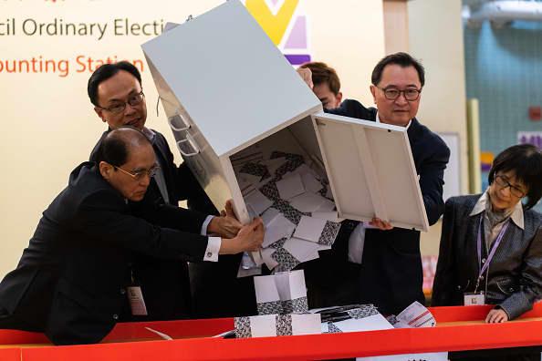 Hong Kong markets jump as pro-democracy candidates surge to 'stunning' election victory