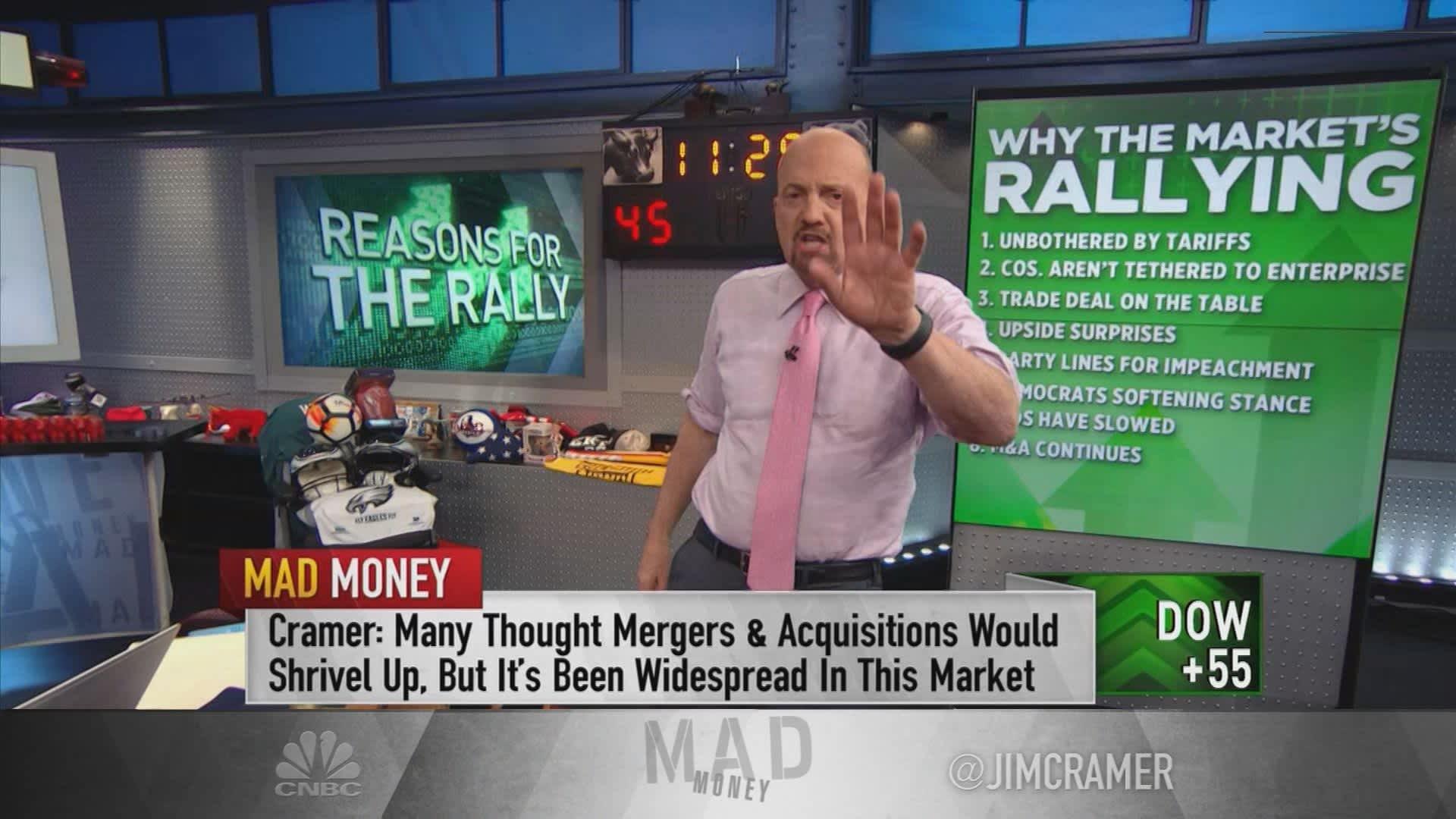Why market is rallying despite tariffs & impeachment, according to Jim Cramer