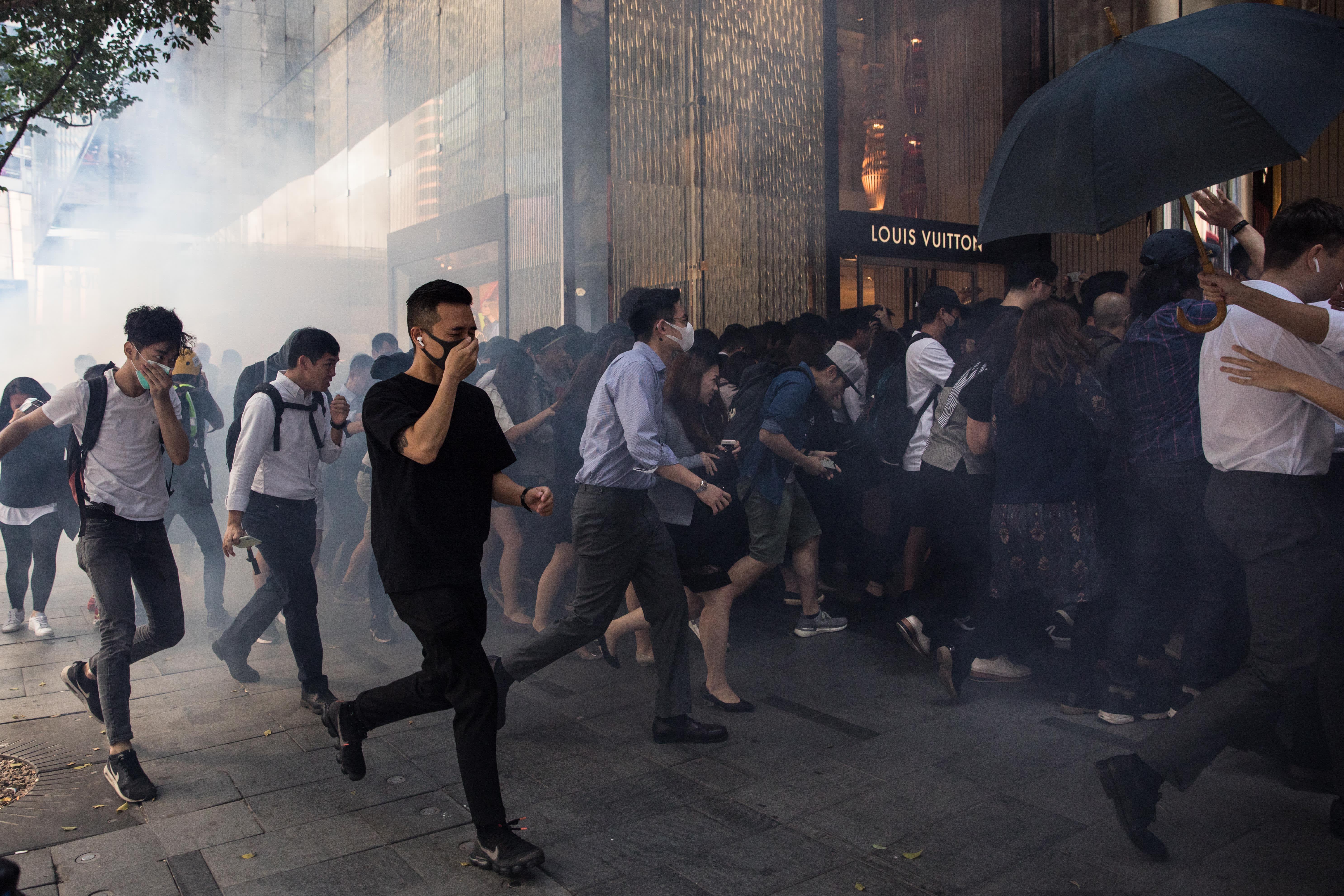 Hong Kong retail sales post worst slump on record as protests take toll