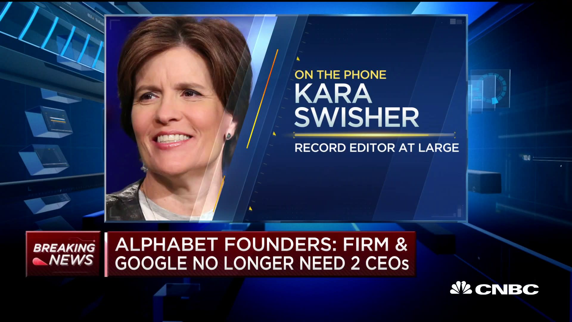 Kara Swisher: Alphabet CEO change not that big a surprise