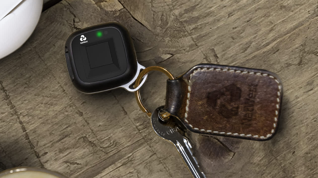 A UK bank is testing a key fob that uses your fingerprint to make payments
