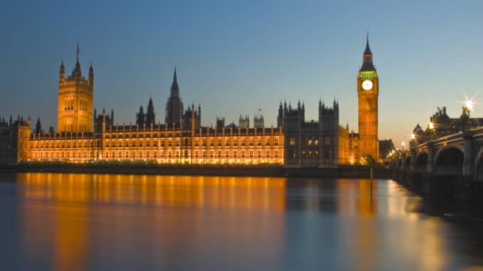 GP: Houses of Parliament illuminated at night