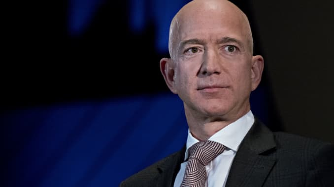 Jeff Bezos, founder and CEO of Amazon, pictured on September 13, 2018.