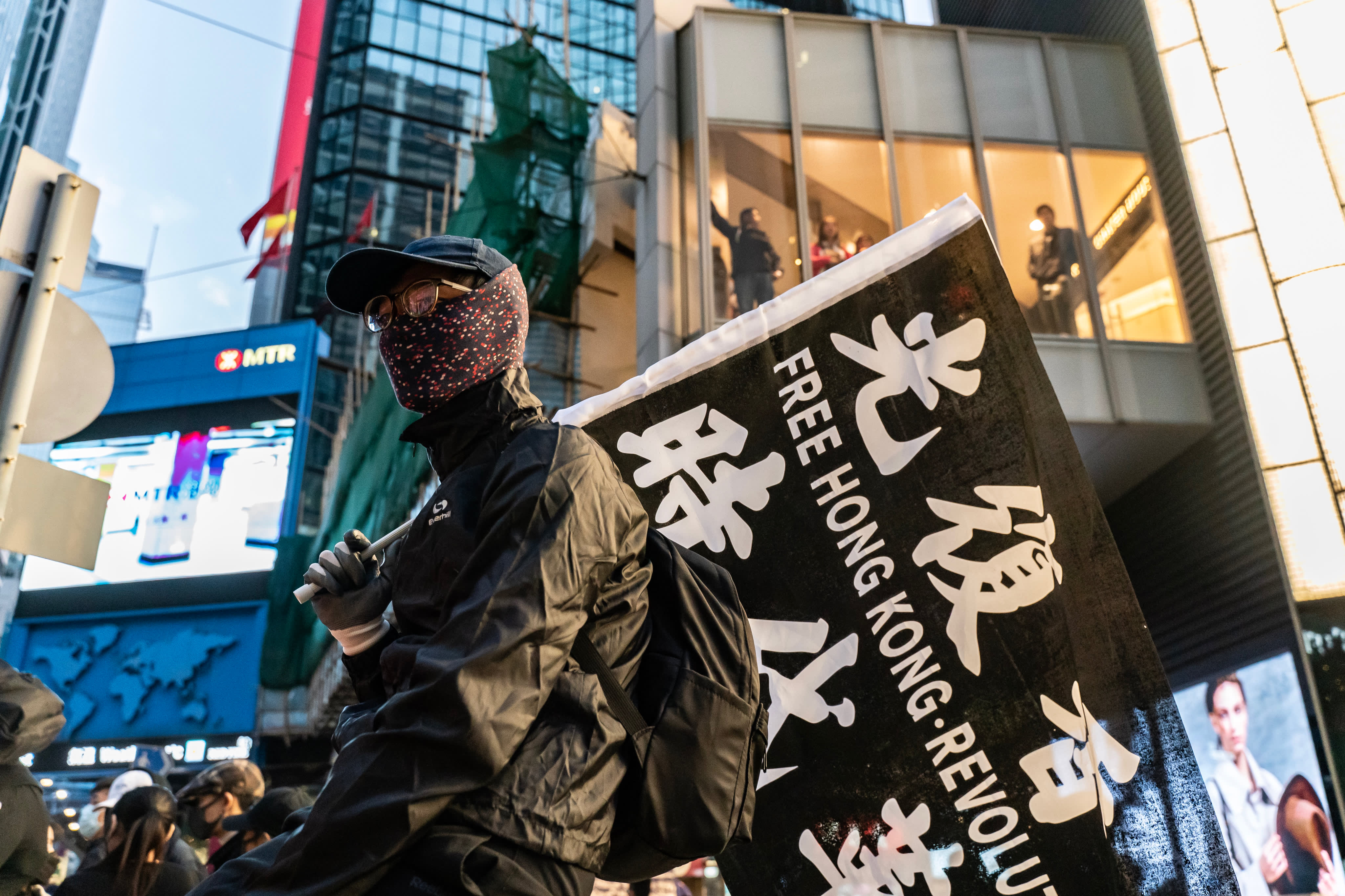 Hong Kong sees biggest protests since democrats' election victory