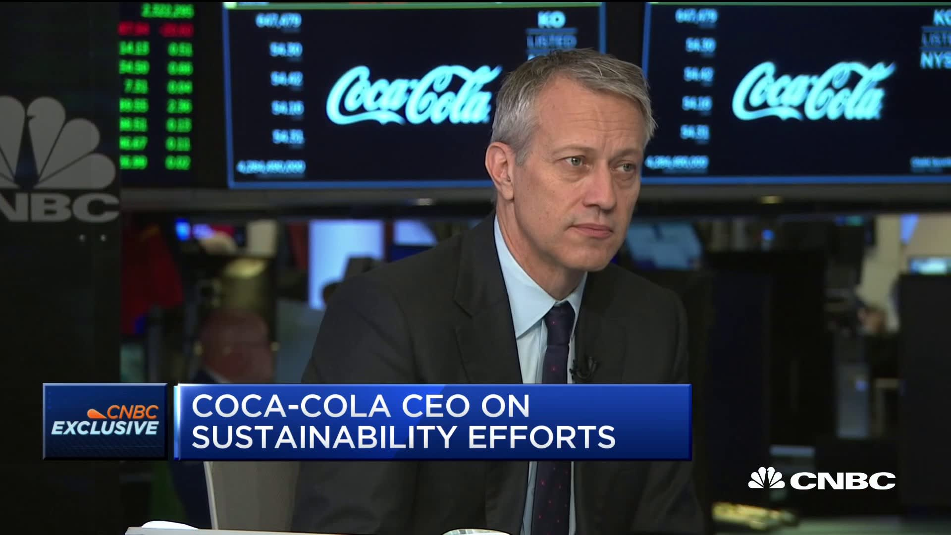 Coca-Cola CEO James Quincey explains the company's effort to reduce plastic