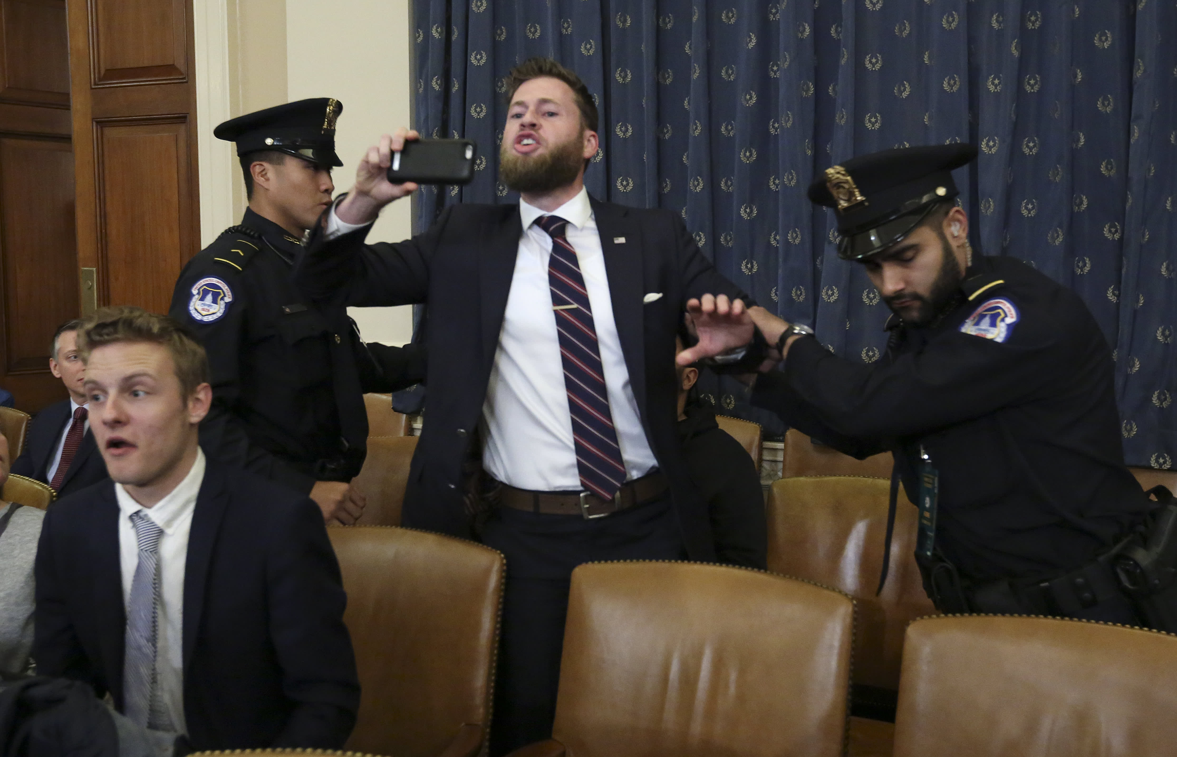 'Trump is innocent!' — Heckler from Alex Jones' Infowars accuses Nadler of treason during impeachment hearing