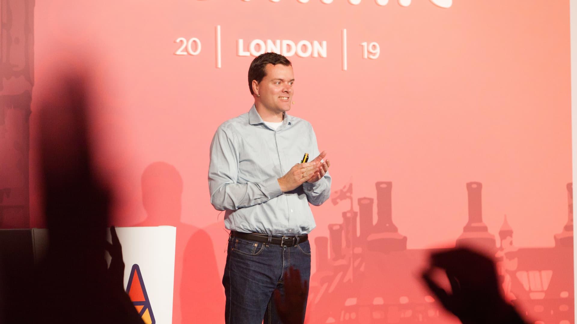 GitLab CEO Sid Sijbrandij at company event in London