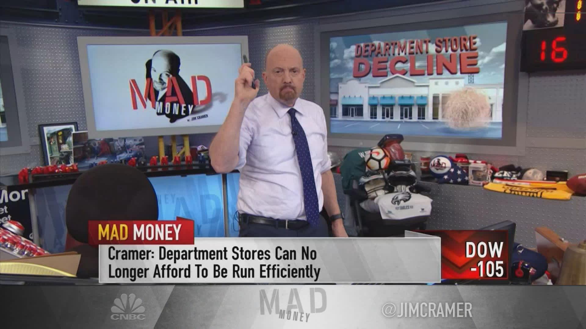 Macy's & Kohl's 'have never felt more irrelevant,' says Jim Cramer