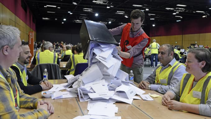 GP: EU Election Workers Count Ballots And Declare Results 191210 EU